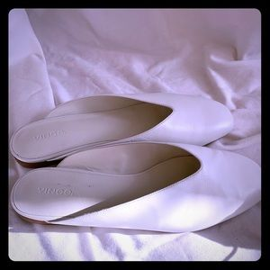VINCE Brand new white ballet mules. Size 9